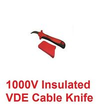 Electricians Vde 1000 Volt Linesmans Insulated Knife Electrical Cable Stripper