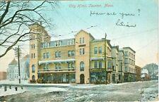 Taunton MA The City Hotel in a 1906 Winter