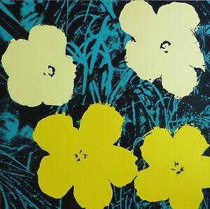 ANDY WARHOL POPPY FLOWERS SUNDAY B.MORNING SILK-SCREEN 11.72 WITH COA