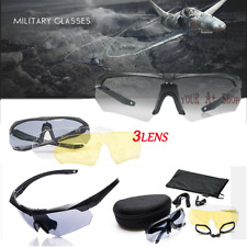 3 Lens Shooting Glasses Polarized Safety Eyewear Sport Motorcycle Protection