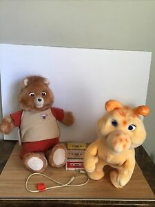 Vintage 1985 Teddy Ruxpin Grubby Cord Cassette Tapes Lot Works