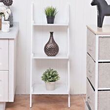 Ladder, Book Self, Home Decor, Shelving, Vintage, White, Wall Leaning, US Ship