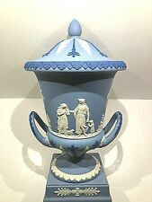 "C.1993 ~ Wedgwood Jasperware Tri-Colour Large Urn ""Offerings Of Peace"" - New"