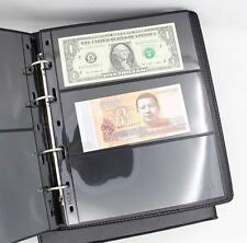 Black Paper Money Banknote Collection Album Book Load 180 Notes Bills Brand New