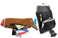 Women's Leather Cigarette Case Coin Purse 100s King 84s 2pc Lot BLACK+ Lt. BROWN