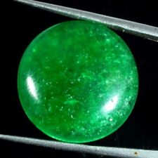 16.75 Ct Natural Chinese Jade Jadeite Green Round 20 mm Loose Cabochon Gemstone