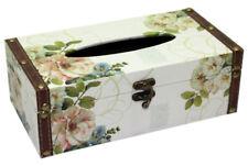 Vintage Floral Design Rectangular Tissue Box