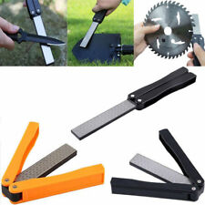 "5"" Double Sided Folded Pocket Diamond Knife Sharpening Stone Sharpener Tool"