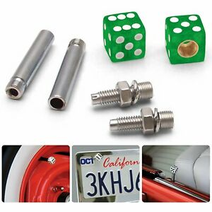 Clear Green with Sparkle Dice 2 Valve Cap, Door Plunger, Plate Bolt Combo Kit