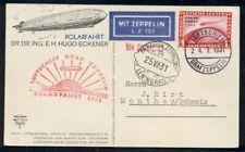 Germany, 1931, Zeppelin Polar Flight w/1mk Ovpt tied on properly cacheted card