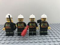 LEGO 4 x Firefighter Fireman Woman Minifig Minifigure Joblot Bundle City Tools