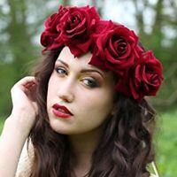couronne florale mariage coiffure des bandeaux de fleur de rose cheveux garland