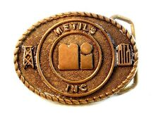 Vintage Metalis Inc.Fibbia Cintura Blu Bayou Fibbie di houston
