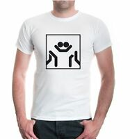 Herren Unisex Kurzarm T-Shirt Ringen-Piktogramm Kampfsport Sport fighting