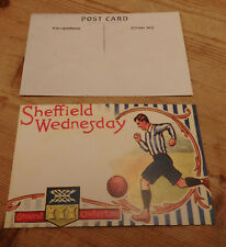 Old postcard, Sheffield Wednesday FC - believe to be reproduction