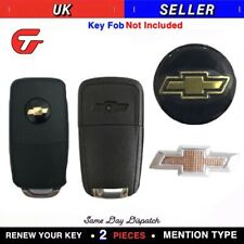2x 14MM Replacement Car Key Sticker For CHEVROLET Fob Emblem Badge Radio Button