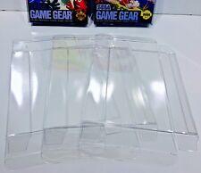 6 SEGA GAME GEAR Box Protectors  Crystal Clear Display Cases Sleeves Boxes CIB