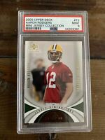 2005 UPPER DECK JERSEY AARON RODGERS RC GREEN BAY PACKERS ROOKIE PSA 9