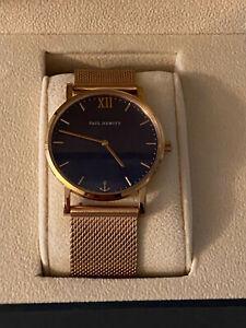 Tolle Armbanduhr / Uhr von PAUL HEWITT Rosegold / Dunkelblau Sailor Line