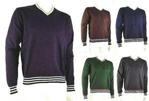 Pullover  Maglia Uomo TRICOT PROVENZALE D055 Blu Grigio verde Tg M L XL XXL
