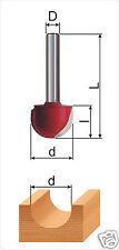 Fraise à canneler (Round Nose bit) Ø-6*10*8*40mm