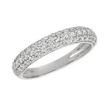 0.75 Carat Natural Diamond Ring Band G SI 14K White Gold