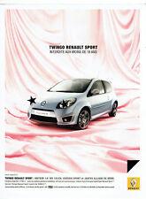 Publicité Advertising 078  2008   la Twingo Renault sport