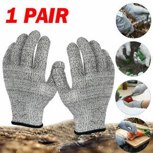1 Paar Schnittfeste Schnittschutz Handschuhe für Metzger Küche Glas Arbeit DE
