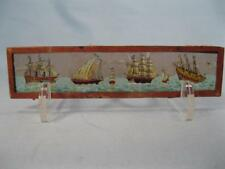 Magic Lantern Glass Slide Four Clipper Ships With Sails In The Ocean (O)