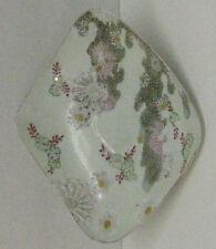 Vtg Japanese Hand Painted Moriage Floral eggshell procelain oblong dish