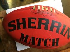 T. W. Sherrin rugby ball  -  made in Australia  -  leather Match Tw