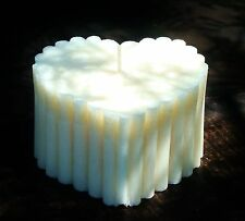100hr COTTON CANDY MARSHMELLOWS Sweet Scented HUGE HEART CANDLE Girlfriend Gifts