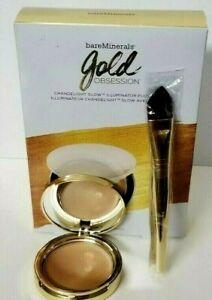 bareMinerals Chandelight Glow Illuminator GOLD OBSESSION + Limited Edition Brush