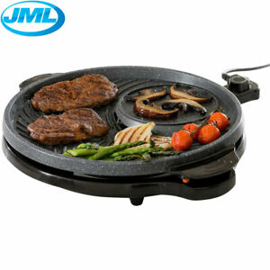 JML Grill Circle XXL Elektro Tisch Grill Kochplatte Fondue Raclette BBQ Antihaft