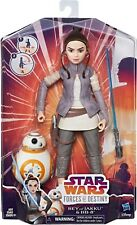 Star Wars Forces of Destiny Rey of Jakku and BB-8 Figurine Set New