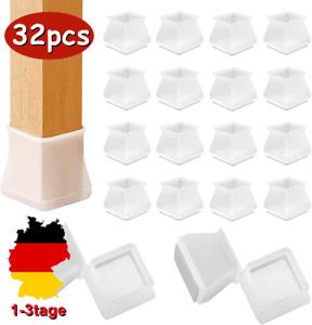 32er Stuhlbeinkappen Fußkappen Tischfuß Möbel Socken Bodenschutz Schoner Silikon