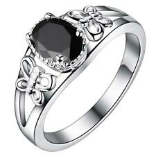 Promotions new 925 silver Natural Crystal Fashion Rings jewelry black Fine gifts