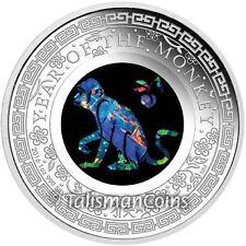 Australia 2016 Year of Monkey Lunar Zodiac Opals Series 1 $1 Silver Dollar Proof