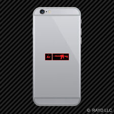 AR15 Element Periodic Table Red Cell Phone Sticker Mobile ar 15 2a 2nd