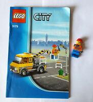 Lego 3179 City Bauanleitung und eine Figur Bauarbeiter  BA 91