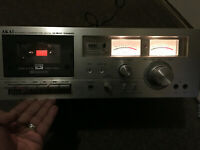 Vintage AKAI STEREO CASSETTE PLAYER RECORDER MODEL GXC-706D Japan Made