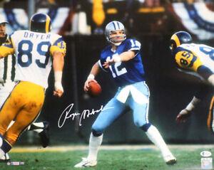 Roger Staubach Autographed/Signed Dallas Cowboys 16x20 Photo BAS 32790