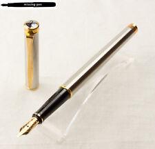 Pelikan New Classic Fountain Pen P380 Silver-Gold with 14 K BB-nib (1992 - 1995)