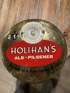 Holihan's Ale Pilsner Beer Thermometer, Lawrence, Mass.