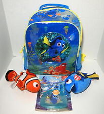 Finding Dory Lot~Backpack School Bag + 2 Plush Toys Nemo Dory + Stationery Set