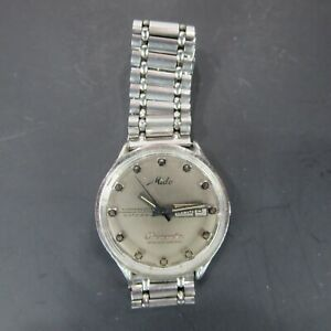 Mido Commander Datoday Chronometer Silver Vintage Watches Swiss Made Self Wind