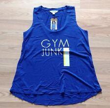 NWT Women's ZOBHA Cobalt Blue Sleeveless Tank Top Graphic Shirt Size XL X-Large