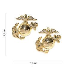 Usmc Insignia collar badge brass pin bac Marine corps Army Navy Vietnam wk2 WKII