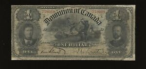 1898 Dominion of Canada $1 - DC-13a. S/N: 759069/D