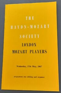 Jacqueline Du Pre  May 1967 Royal Festival Hall Programme London Mozart Players